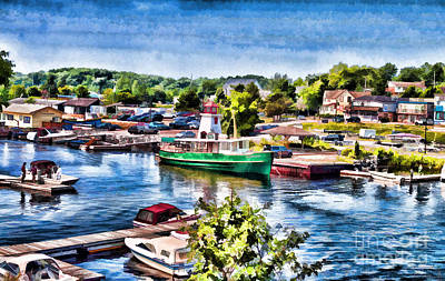 Photograph - Parry Sound - Painterly Version 2 by Les Palenik