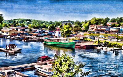 Georgian Bay Photograph - Parry Sound - Painterly Version 2 by Les Palenik