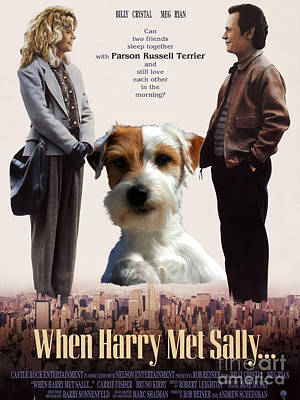Mets Painting - Parson Russell Terrier Art Canvas Print - When Harry Met Sally Movie Poster by Sandra Sij