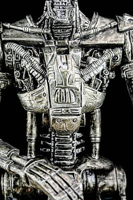 Machinery Mixed Media - Part Of A The Terminator  by Tommytechno Sweden
