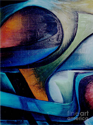 Plane Painting - Part Of An Abstract Painting by Genevieve Esson