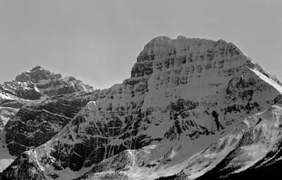 Photograph - 1m3863-bw-part Of Fryatt Massif  by Ed  Cooper Photography