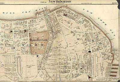 Part Of New Brighton  Town Of Castleton Art Print