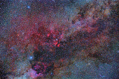 Ic Images Photograph - Part Of The Milky Way Constellation by Reinhold Wittich