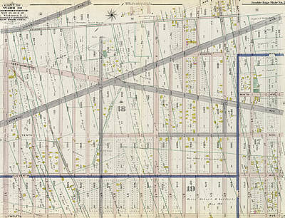 Volumes Drawing - Part Of Ward 30, Land Map Sections, Nos. 17 by Litz Collection