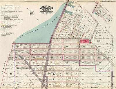 Volumes Drawing - Part Of Wards 29 & 30, Land Map Sections by Litz Collection