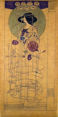 Disk Painting - Part Seen, Imagined Part, 1896 by Charles Rennie Mackintosh