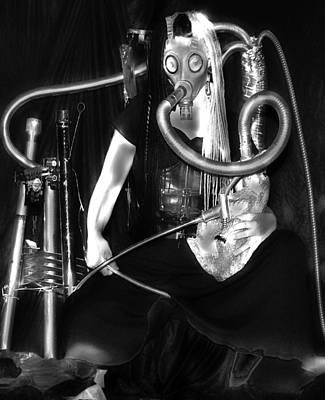 Photograph - Partage Le Masque A Gaz De Lapin 16 by Tarey Potter