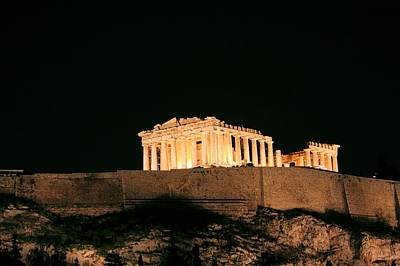 Photograph - Parthenon At Night by Gordon Elwell