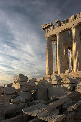 Parthenon From The South Art Print by Ellen Henneke