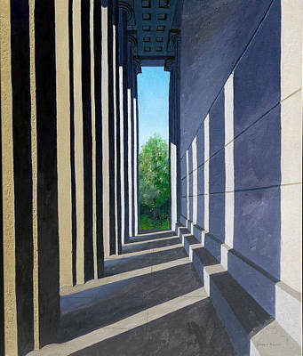 Nashville Park Painting - Parthenon Shadows by Dillard Adams