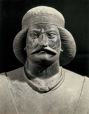 Statue Portrait Photograph - Parthian Warrior From Shami. 1st C by Everett