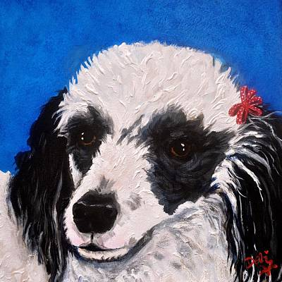 Painting - Parti Poodle by Debi Starr