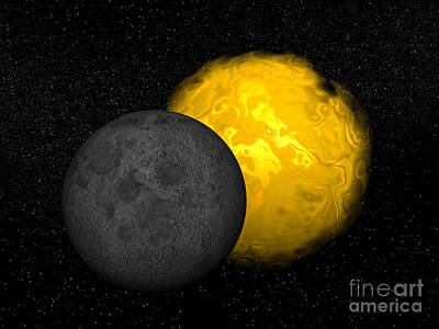 Solar Eclipse Digital Art - Partial Eclipse Of The Sun by Elena Duvernay