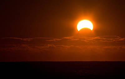 Photograph - Partial  Eclipse Of The Sun by Greg Graham