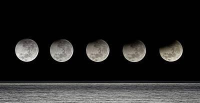 Partial Lunar Eclipse Art Print by Luis Argerich