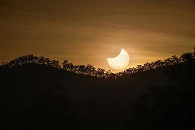 Partial Solar Eclipse Art Print by Martin Rietze