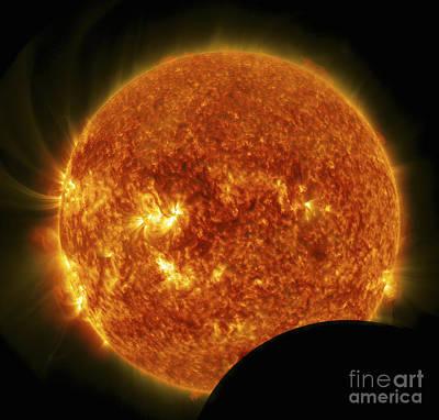 Partial Solar Eclipse Art Print by Stocktrek Images
