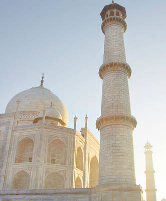India Photograph - Partial View Taj Mahal by Grant Faint