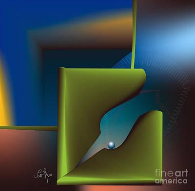 Particle Art Print by Leo Symon