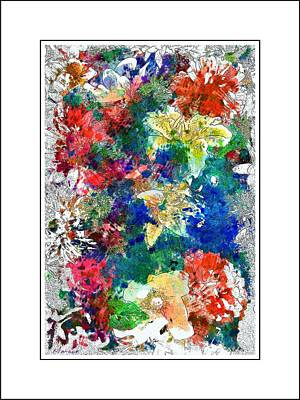 Partly Finished Bouquet Art Print by Barry Monaco