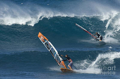 Laird Hamilton Photograph - Partners In The Extreme by Bob Christopher