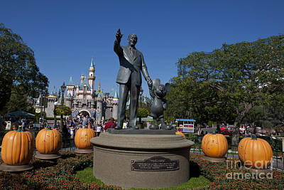 Jason O. Watson Photograph - Partners Statue Disneyland Halloween by Jason O Watson