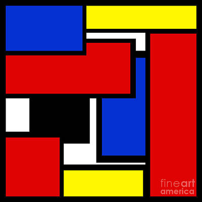 Digital Art - Partridge Family Abstract 1 C Square by Andee Design