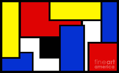 Digital Art - Partridge Family Abstract 2 B by Andee Design