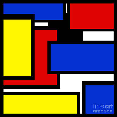 Digital Art - Partridge Family Abstract 2 C Square by Andee Design