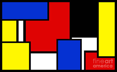 Digital Art - Partridge Family Abstract 3 B by Andee Design
