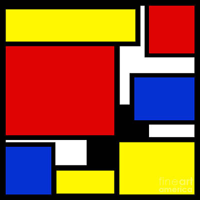Digital Art - Partridge Family Abstract 3 C Square by Andee Design