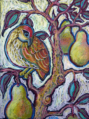 Pear Tree Painting - Partridge In A Pear Tree 1 by Ande Hall