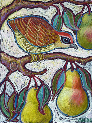 Pear Tree Painting - Partridge In A Pear Tree 3 by Ande Hall