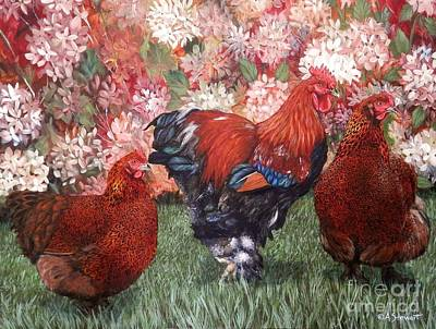 Painting - Partridge Party Of Three by Amanda Hukill