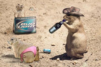 Manipulation Photograph - Party Animals by Robert Jones