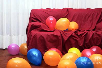 Party Balloons Art Print by Carlos Caetano
