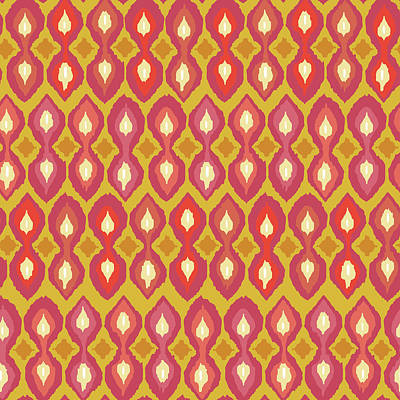 Graphic Drawing - Party Boardwalk Ikat by Sharon Turner