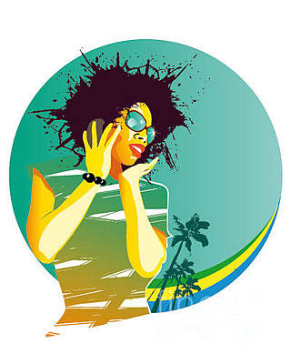 Glamour Digital Art - Party Brasil by Visualrocks