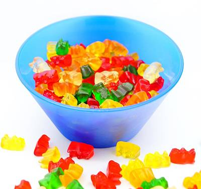 Gummi Candy Photograph - Party Candy by Andrea Rea