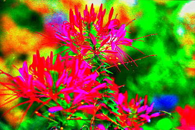 Party In The Garden Art Print by Ira Shander