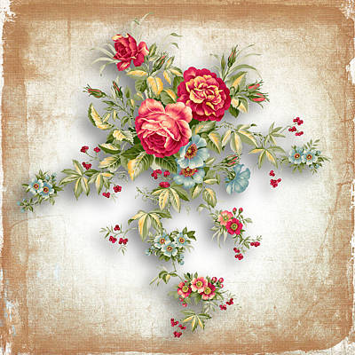 Party Of Roses  Print by Mark Ashkenazi