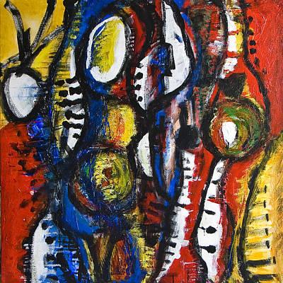 Painting - Party On by Alexandra Jordankova