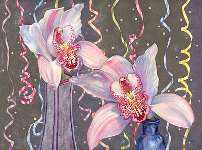 Painting - Party Orchids by Lynda Hoffman-Snodgrass