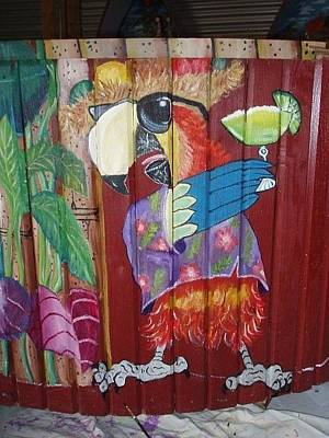 Etc. Painting - Party Parrot by Shirley Kelly