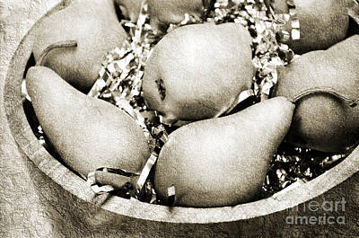 Pear Mixed Media - Party Pears Bw by Andee Design