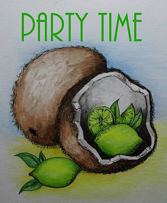Painting - Party Time by Catherine Howley