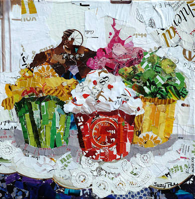 Cake Art Painting - Party Time by Suzy Pal Powell