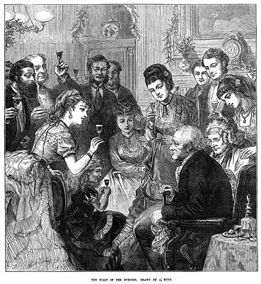 Painting - Party Toast, 1872 by Granger