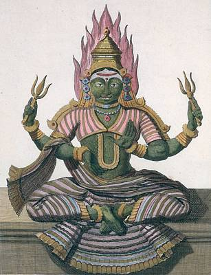 Shiva Drawing - Parvati, From Voyage Aux Indes Et A La by Pierre Sonnerat